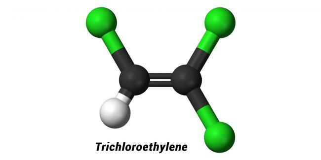 Trichloroethylene 3D Molecule