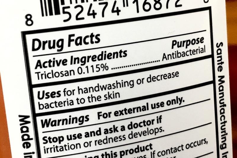 Triclosan Label