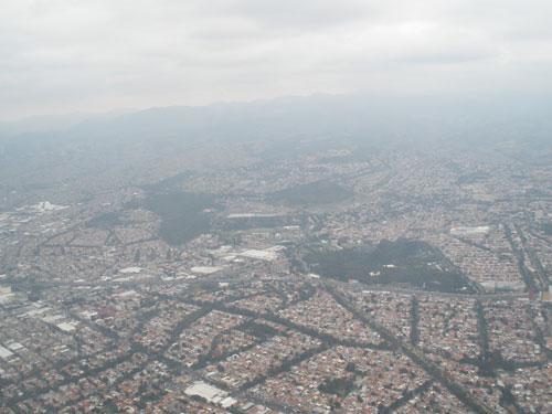 air pollution aerial photo