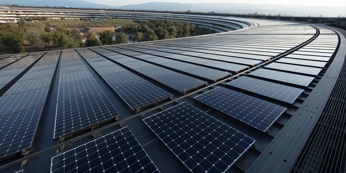 Apple renewable energy - solar panels