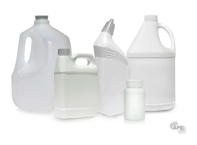 plastics recycling - plain plastic containers