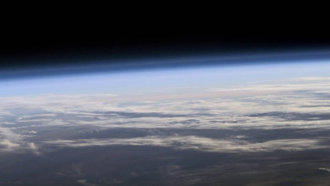 global warming - image of clouds from space