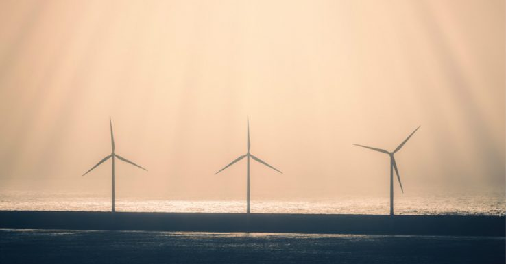 Wind Turbines Off Shore