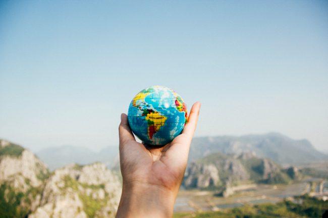 Earth Day - Hand Holding Globe